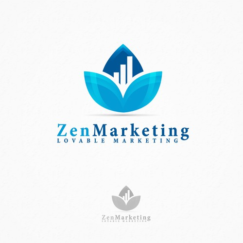 Success design with the title 'Zen Marketing - Logo Design'