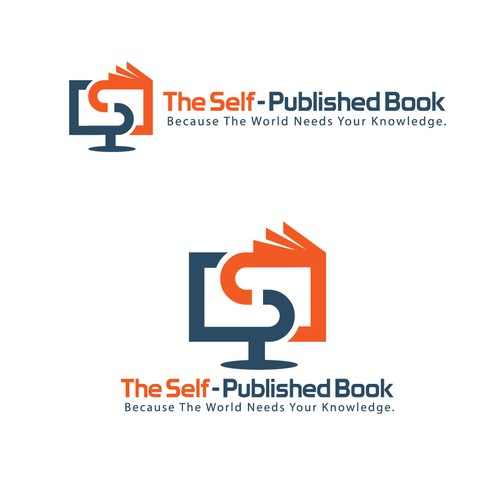 Publishing logo with the title 'Logo Design for Online Book Publishing'