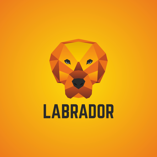 Low poly logo with the title 'Help us create a logo for our new business! A portion of proceeds go to Dogs on Deployment!'