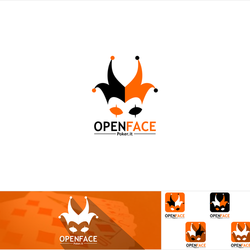 Smartphone logo with the title 'OPEN FACE POKER'