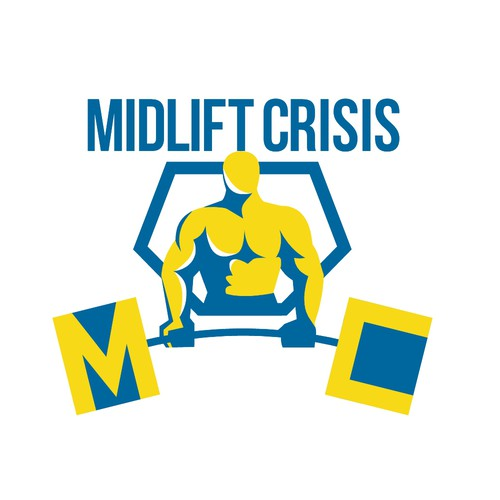 Weightlifting logo with the title 'Midlift Crisis'