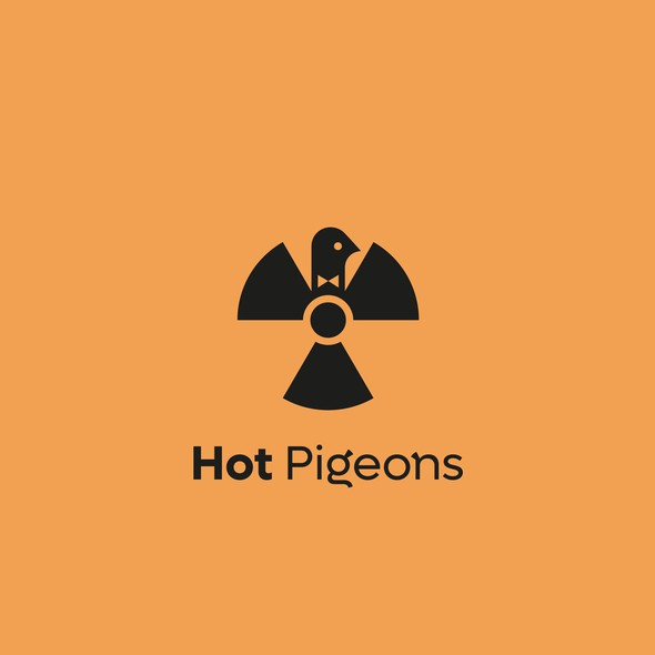 Witty logo with the title 'Hot Pigeon'