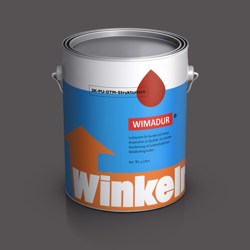 Industrial label with the title 'Winkelmann Coating Label Design'