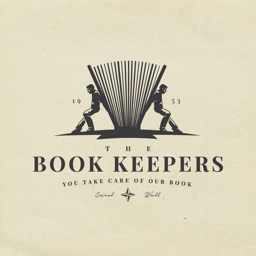 Classic logo with the title 'The Book Keepers'