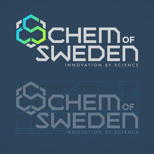 Chemistry logo with the title 'logo design'