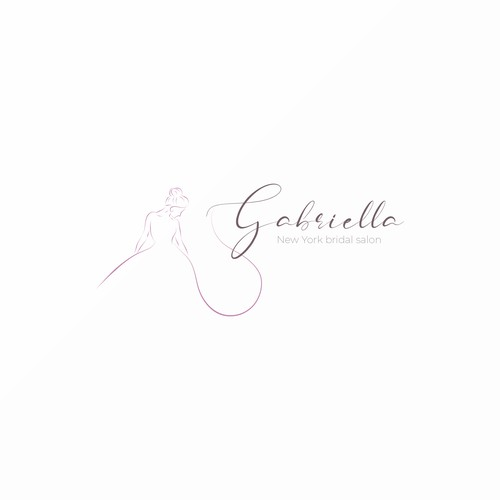 Delicate logo with the title 'Elegant logo concept for Downtown NYC wedding dress shop '