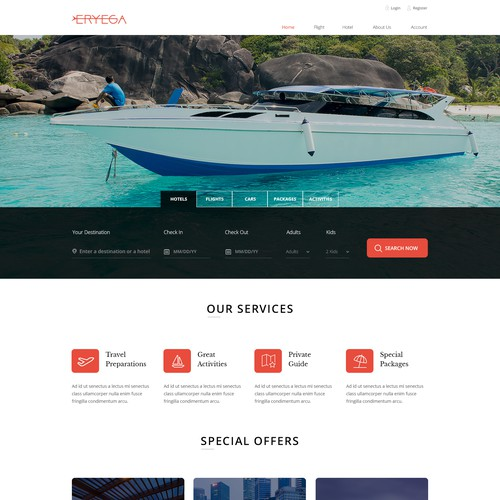 User-friendly website with the title 'Modern Design For A travel Agency'