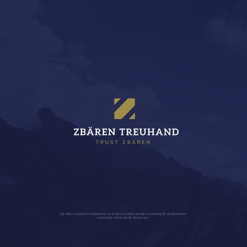 Mature logo with the title 'ZBAREN TREUHAND'