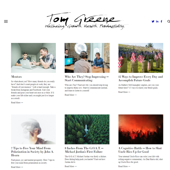 Blogger design with the title 'Tom Greene'
