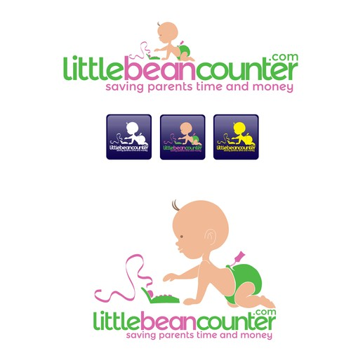 Parent logo with the title 'Help littlebeancounter.com with a new logo'