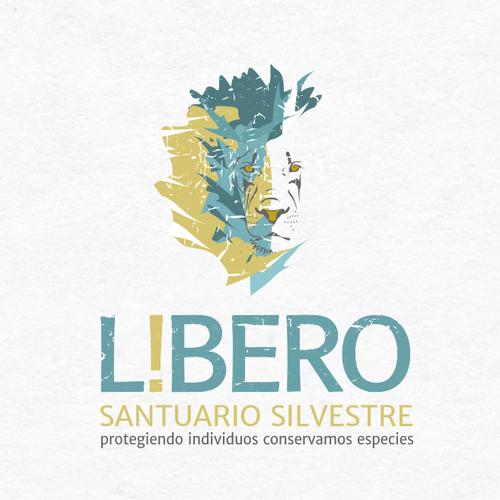 "Wildlife design with the title 'Logo for Wildlife Sanctuary: ""L i b e r o  santuario silvestre""'"