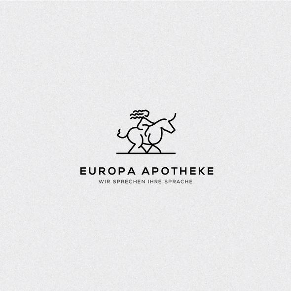 Zeus logo with the title 'Europa Apotheke'