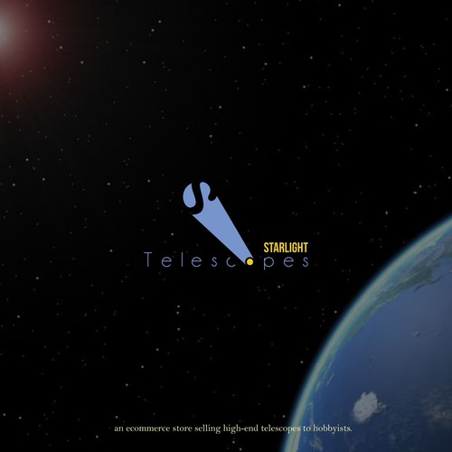 Telescope logo with the title 'Starlight Telescopes'