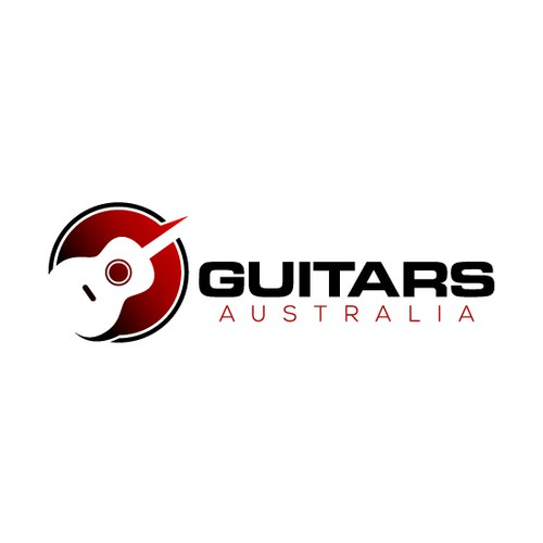 Guitarist logo with the title 'Memorable Logo for Guitars Australia'