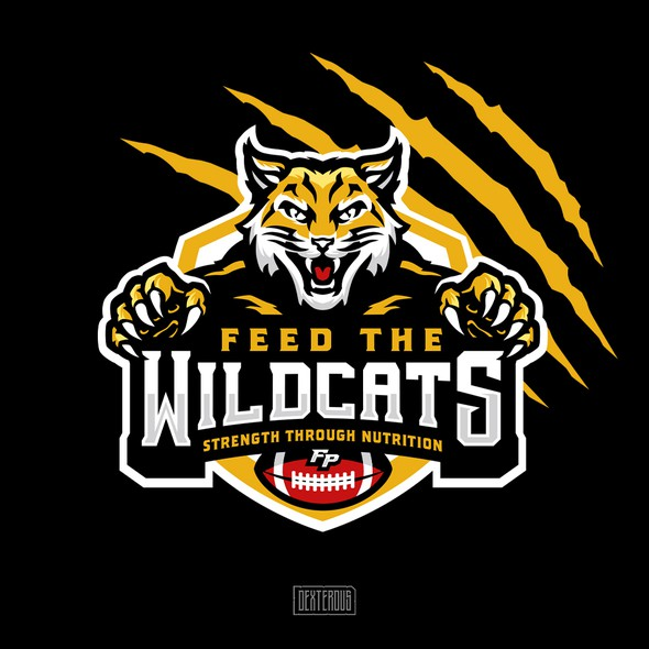 Wildcat logo with the title 'Logo for Feed the WILDCATS'