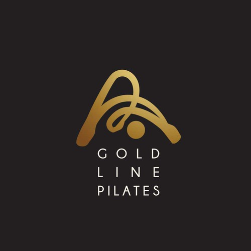Shape design with the title 'pilates  logo '