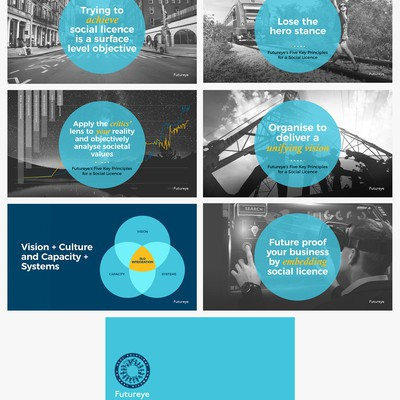 Creative and emotional PPT for social licence firm