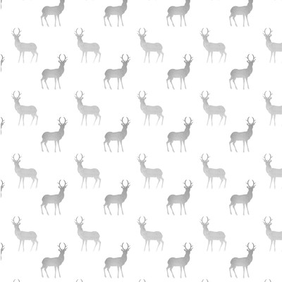 Seamless watercolor pattern with deer