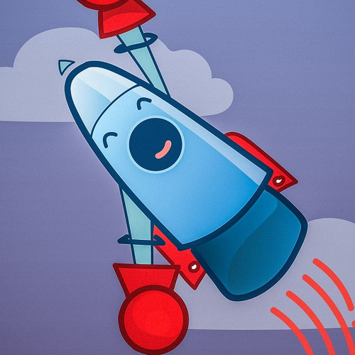 Rocket artwork with the title 'rocket'