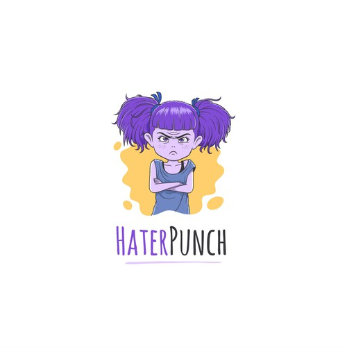 Cute illustration with the title 'Illustration Logo for HaterPunch'