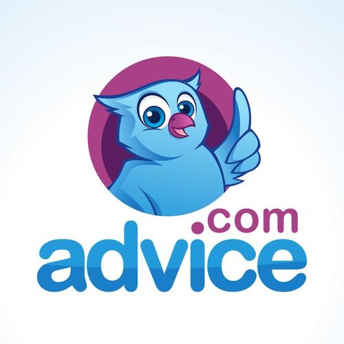 Graduation cap design with the title 'Advice Logo Design'