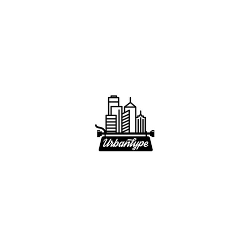 Cityscape logo with the title 'Creative logo for copywriter'
