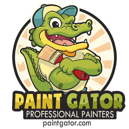 Gator design with the title 'Logo concept for Paint Gator'