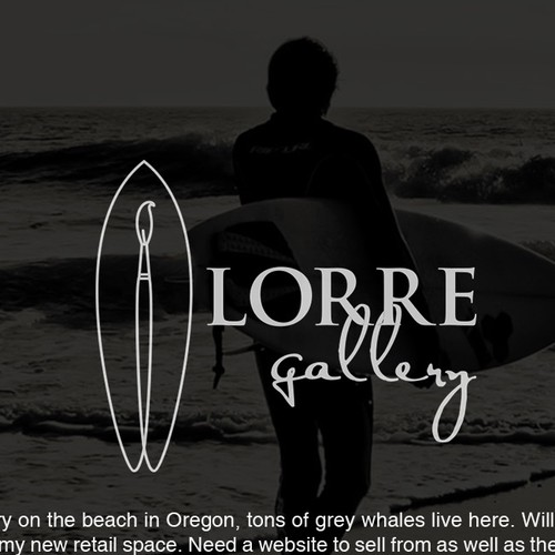 Art gallery design with the title 'Logo concept for a Beach Art Gallery'