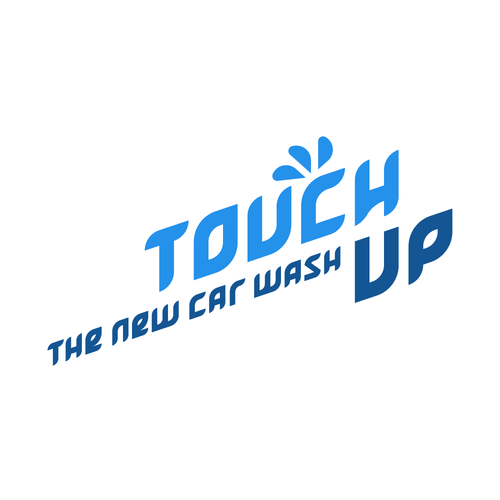 Touch design with the title 'Touch Up - the new car wash'