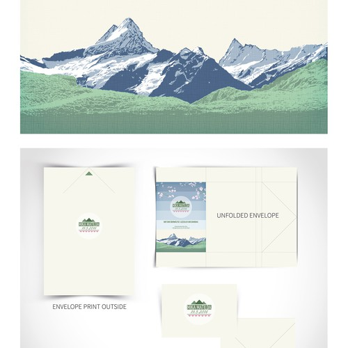 Announcement design with the title 'Card and envelope design'