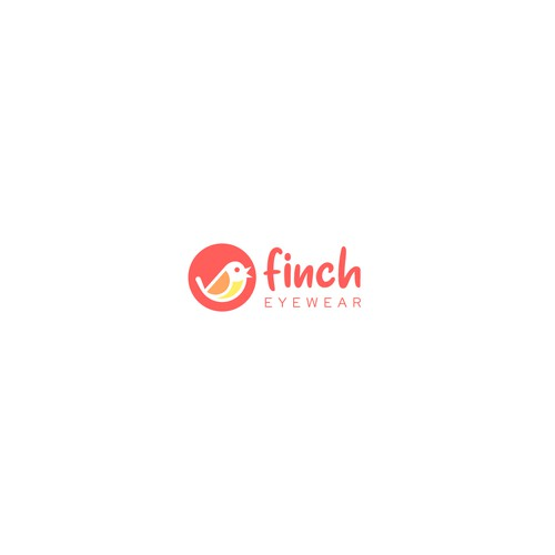 Glasses design with the title 'Logo Design for Finch Eyewear'
