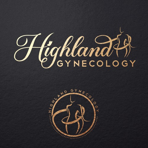 Healthcare logo with the title 'Logo for gynecology clinic'