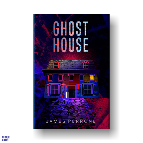 Detective book cover with the title 'GHOST HOUSE'