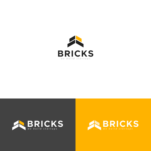 Wall logo with the title 'Bricks, Startup Builders'