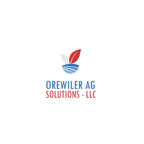 Gray and red logo with the title 'Logo for agricultural products'