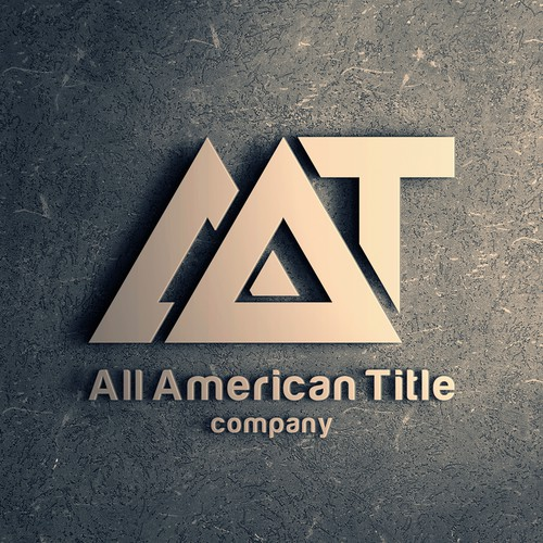Subtle logo with the title 'Logo for All American Title'