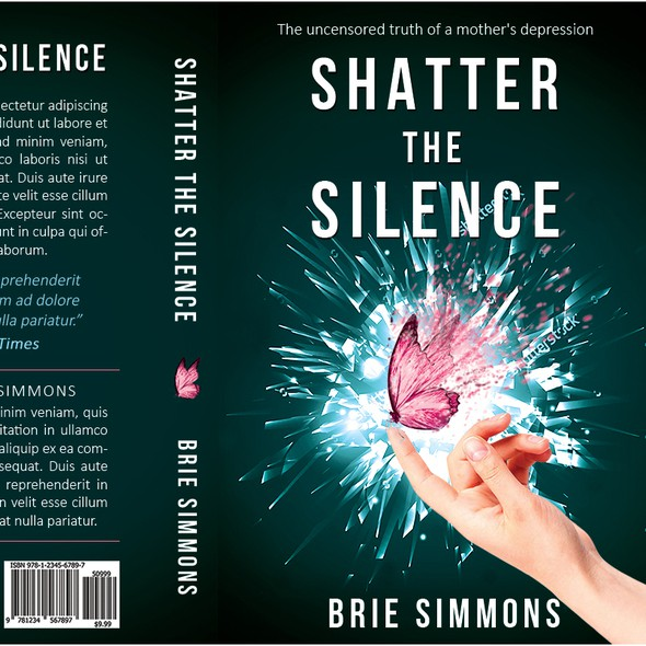 Depression design with the title 'Shatter the Silence'