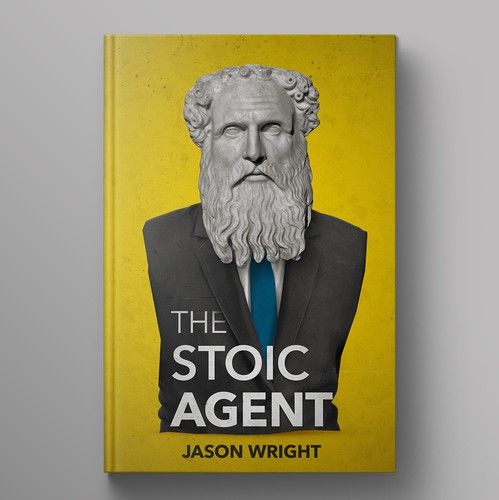 Grunge book cover with the title 'The Stoic Agent Book Cover'