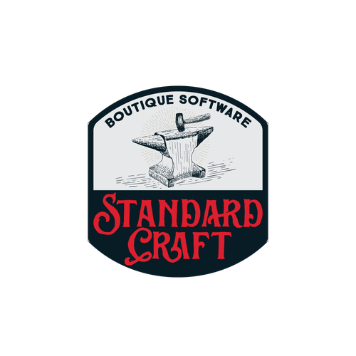 Hammer design with the title 'Standard Craft'