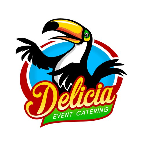 Catering logo with the title 'Delicia'