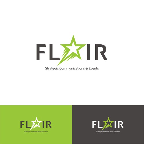 Promotion logo with the title 'Logo concept for FLAIR Event Organizer'