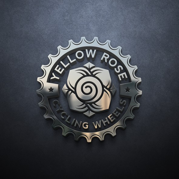 Yellow design with the title 'Yellow rose cycling wheels'