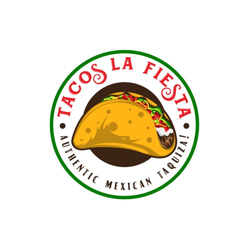 Authentic logo with the title 'Tacos La Fiesta'