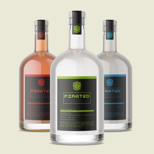 Winner label with the title 'Pirated spirits-label design'