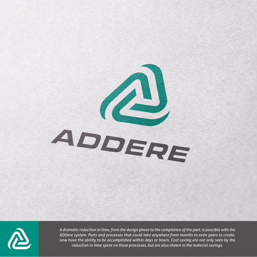 High-tech logo with the title 'Logo concept for manufacturer of 3D printing apparatus '