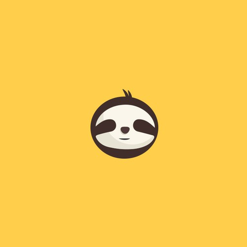 Sloth logo with the title 'logo Proposal for slothgrip'