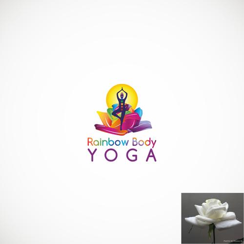 Yoga studio design with the title 'Logo for yoga studio'