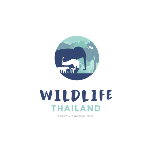 National logo with the title 'Wildlife Thailand'