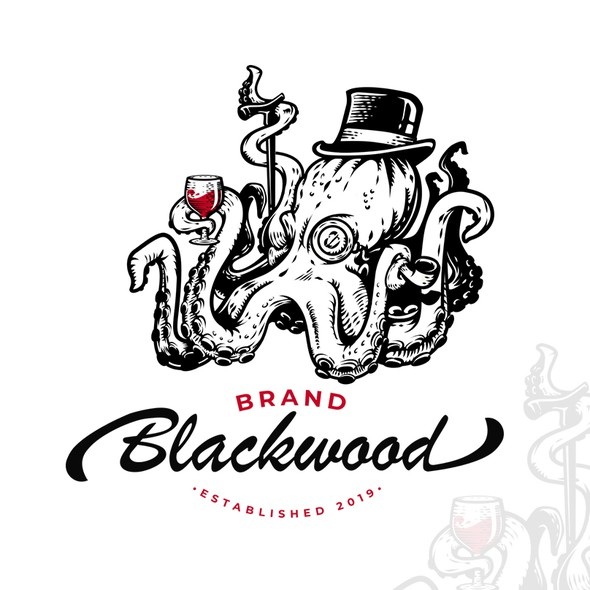 Monocle design with the title 'Brand Blackwood'