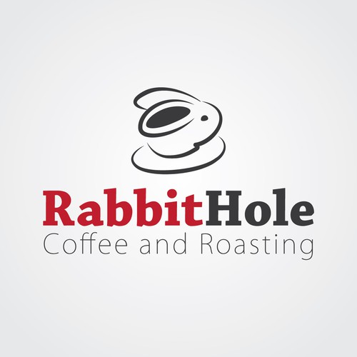 Hole design with the title 'Help RABBITHOLE coffee and roaster with a new logo'